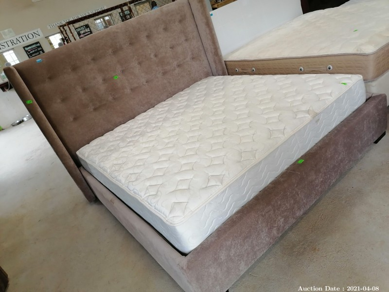 322 King Bed with plush base & Headboard