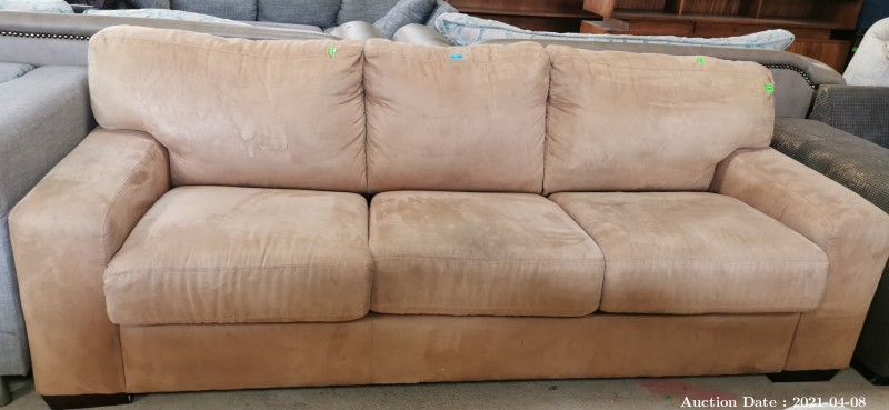 308 3 Seater Suede Couch