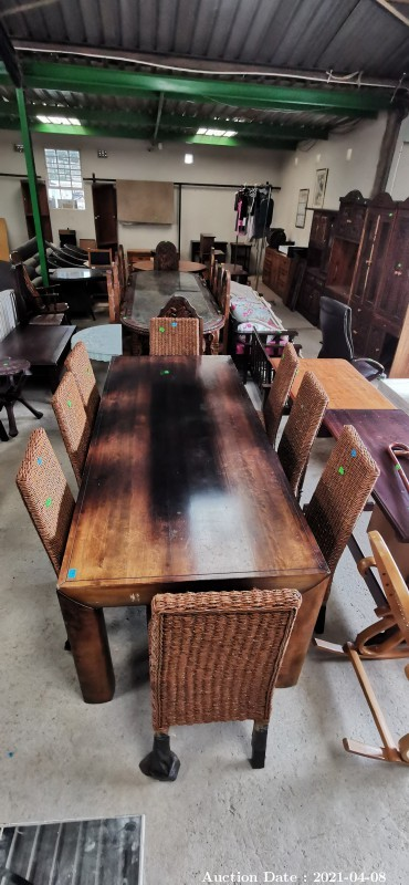302 8 Seater Dining Table