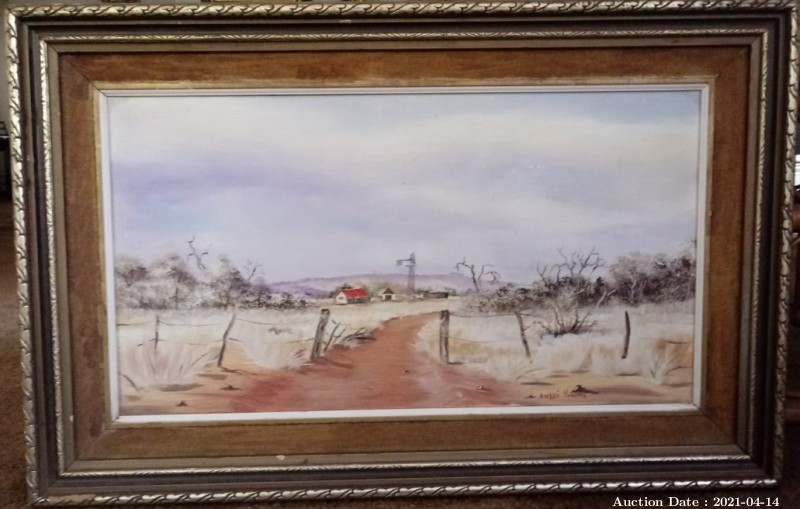 09 Arid Farm Scene by Andre Vorster - Great Investment Opportunity !