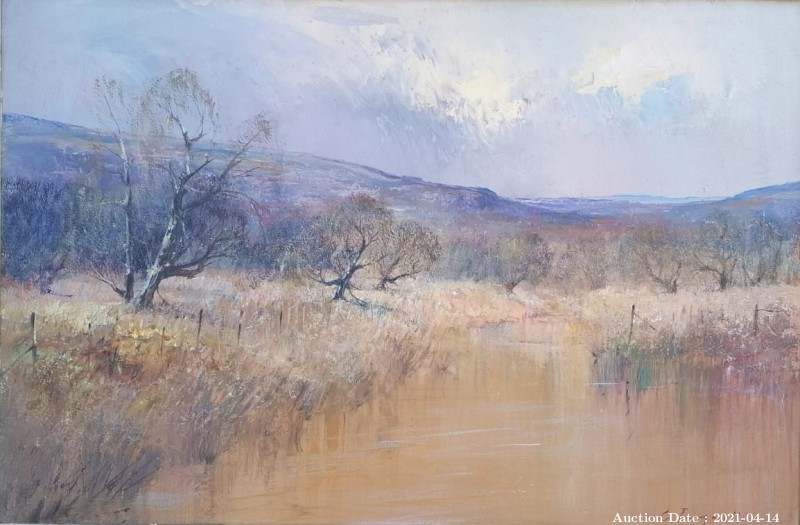 19 Tranquil River Scene by C Tugwell - Great Investment Piece!