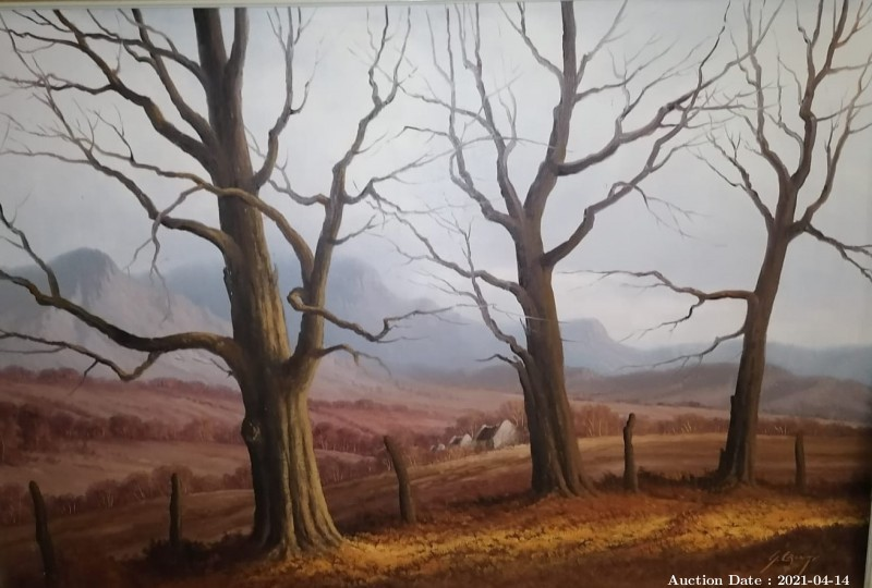 14 Winter Trees by G Cronje - One of SA\'s Undiscovered Masters