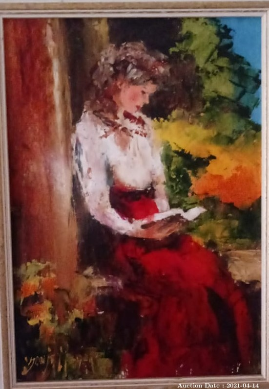 05 Girl Reading by Sonya Meyer - Great Investment Opportunity!