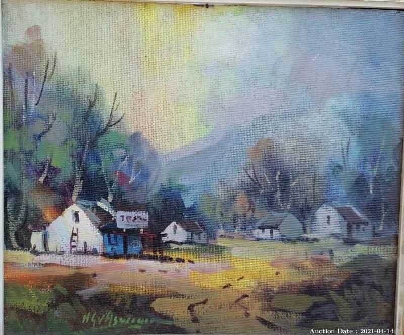 10 Farmhouse Scene by HG van Aswegen