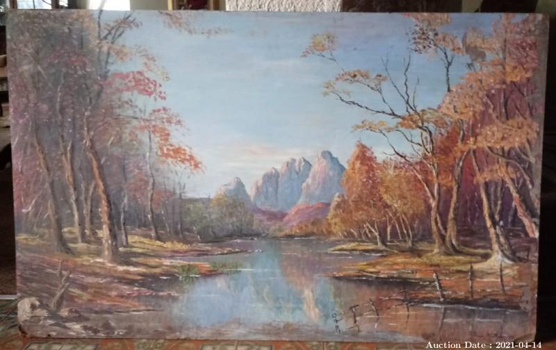 15 River Landscape by Johan Matthee