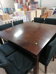 Description 506 Dark Brown Dining Table