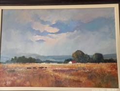 Description Lot 506 - \'Farmscape\' Oil on Board by Eugene Hurter
