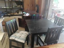 Description 106 4 Seater Kitchen / Dining Table with Chairs & Cushions