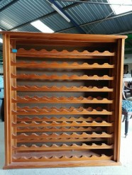 Description 325 Pine Wine Rack