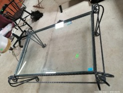 Description 330 Wrought Iron and Glass Coffee Table