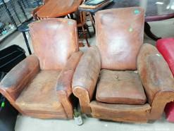 Description 110 Leather Armchairs