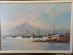 Description Lot 507 - \'Hout Bay\' Oil on Board by Eugene Hurter