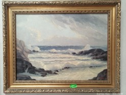 Description 346 Beautiful Ocean Landscape signed G Catty