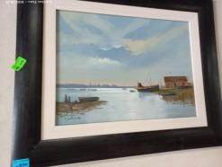 Description Lot 530 - \'Cape Fishing boats\' Oil on Board by Eugene Hurter