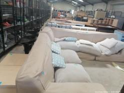 Description 124 Large Upholstered Corner Couch