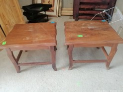 Description 312 Elegant Pair of Solid Meranti Side Tables