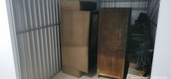 Description Wood Furniture Unit.  This 13 m2 unit contains wood cabinets, chairs, tables and various items. Online Only. Midway Mews - JHB. Please Note: A R300 Returnable Cleaning & Lock Deposit on each unit. Auction closes 12 pm.