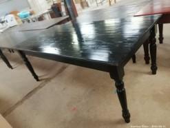 Description 317 Solid Pine Table in Dark Stain