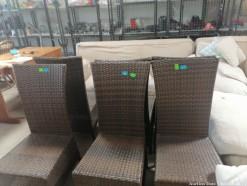 Description 123 Six Stylish Rattan Dining Chairs