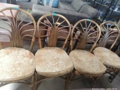 Description 113 Four Cane Dining chairs