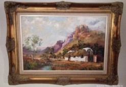 Description 08 Cape Cottage Scene by Pieter Millard - Investment Art !