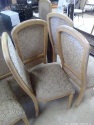 Description 109 Cream and Brown chairs