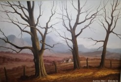 Description 14 Winter Trees by G Cronje - One of SA\'s Undiscovered Masters
