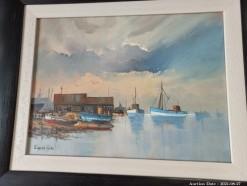 Description Lot 529 - \'Cape Fishing Scene\' Oil on Board by Eugene Hurter