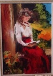 Description 05 Girl Reading by Sonya Meyer - Great Investment Opportunity!