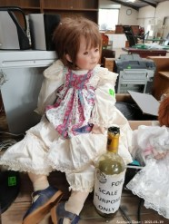 Description Antique porcelain short haired girl doll (30 x 20 x 60 cm) This bid will be used as your proxy bid on our live auction - Online bidders will be notified by 6 Pm by Auction day. AP Score 10/10. This is a live and online auction.