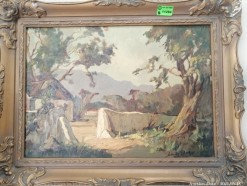 Description 345 - Johan Oldert Framed Oil