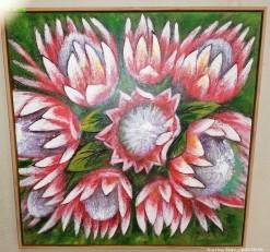 Description Lot 400 - Lovely textured Protea Canvas