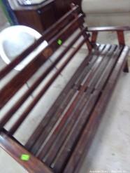 Description 520 Rough Wooden Bench