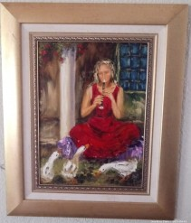 Description 04 Girl with Flute by Sonya Meyer - Great Investment Opportunity!