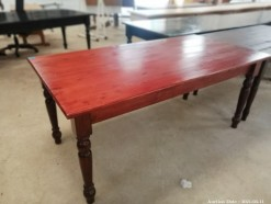 Description 316 Solid Pine Table in Russet Stain