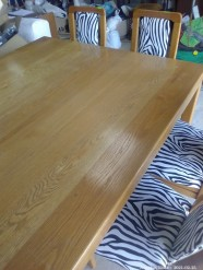 Description 100 Oak Table and Chairs