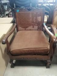 Description 118 - Classic Wood and Rattan B&C Armchair
