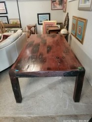 Description 344 - Solid Sleeper Wood 10-Seater Table in Red Rhodesian Teak (Goes with lot 344A)